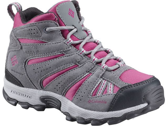 37e87569c121b Columbia North Plains Mid Waterproof - Chaussures Enfant - gris rose